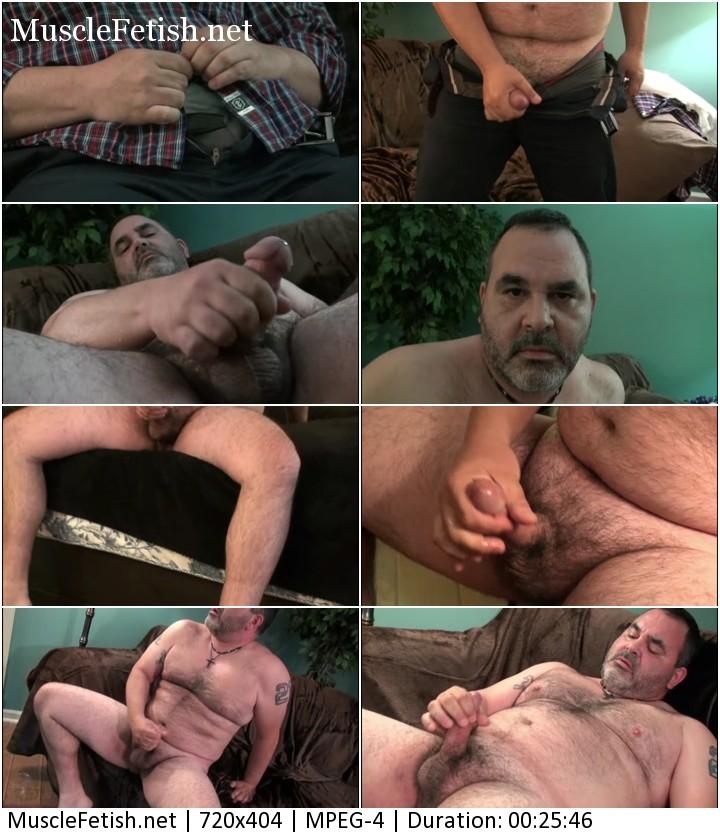Older gay bear Pablo jerking off on cam - 2nd Session