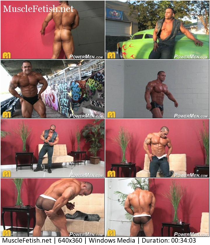 PowerMen video - Bodybuilder Bill Baker Photo Shoot