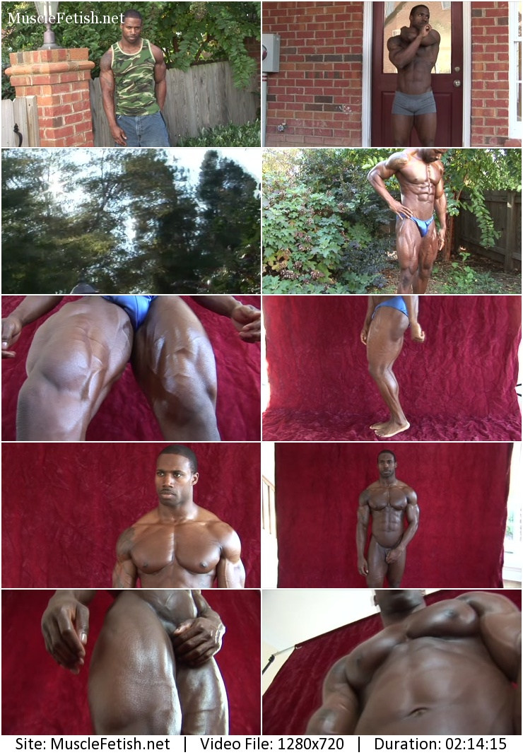 Pumping Muscle – black bodybuilder Terrance – Photoshoot