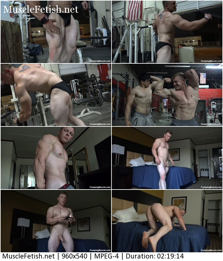 Pumping muscle Atticus C Photo Shoot 3