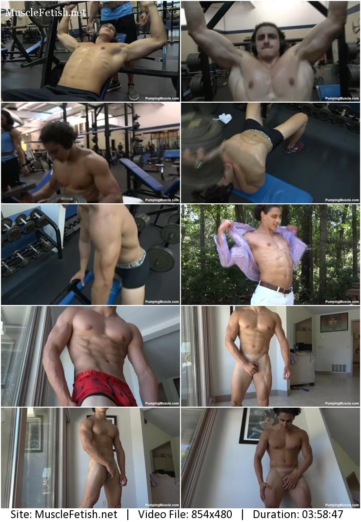 Pumping muscle - Brandon F photo shoot 1