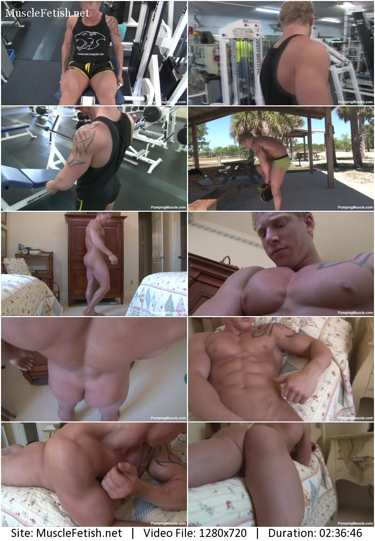 Pumping muscle Ryan R photo shoot part 5