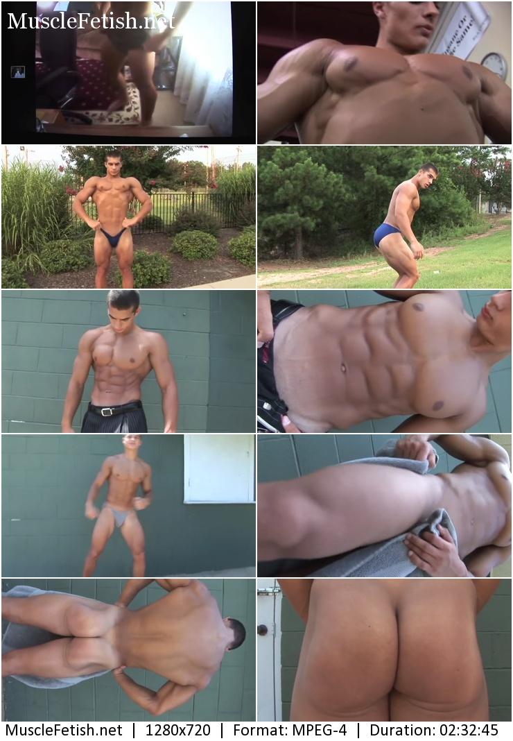 PumpingMuscle - 19 year old bodybuilder Kirill C photoshoot 2015