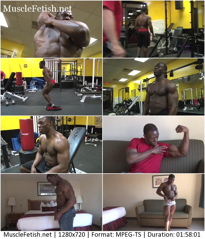 PumpingMuscle - black bodybuilder Josh G photoshoot (July 31, 2014)