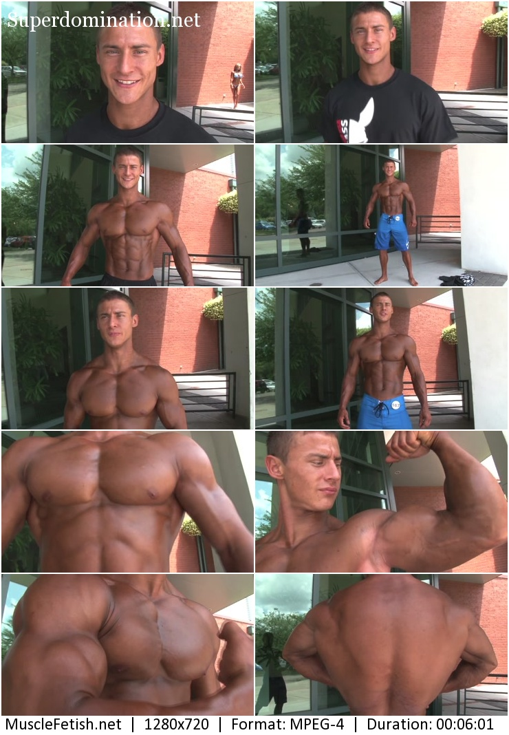 PumpingMuscle - fitness model Stephen M (short video)