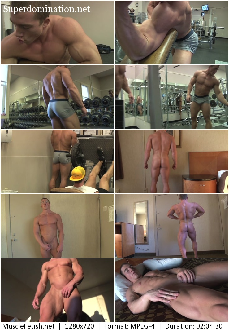 PumpingMuscle video - bodybuilder Brandon B photoshoot part 1