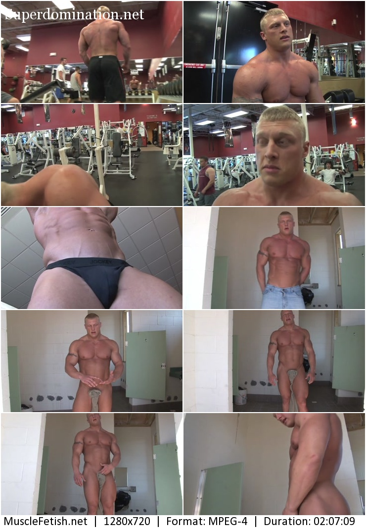 PumpingMuscle video - bodybuilder John B 2012 photoshoot part 1