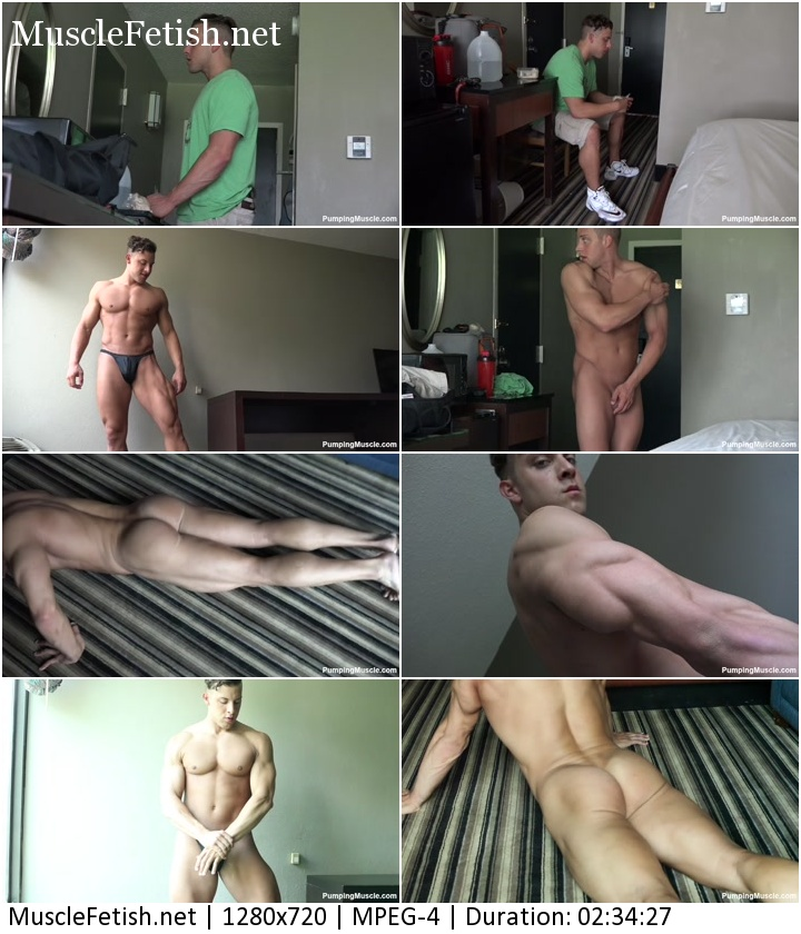 Pumpingmuscle - bodybuilder Gabe K photoshoot part 1