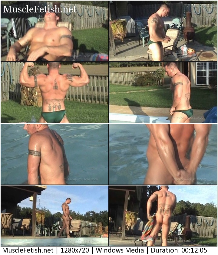 Renegade - Male Muscle Cool Down - muscular guy in the pool