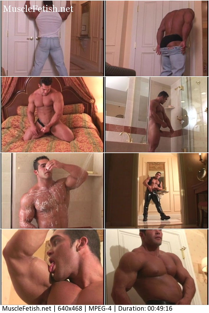 Ruben Escobar - sexual bodybuilder posing in Itands