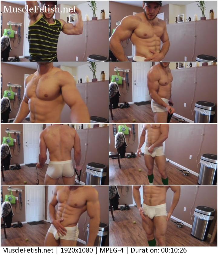Sexy Bodybuilder Anthony Green Demonstrates Male Underwear series #6