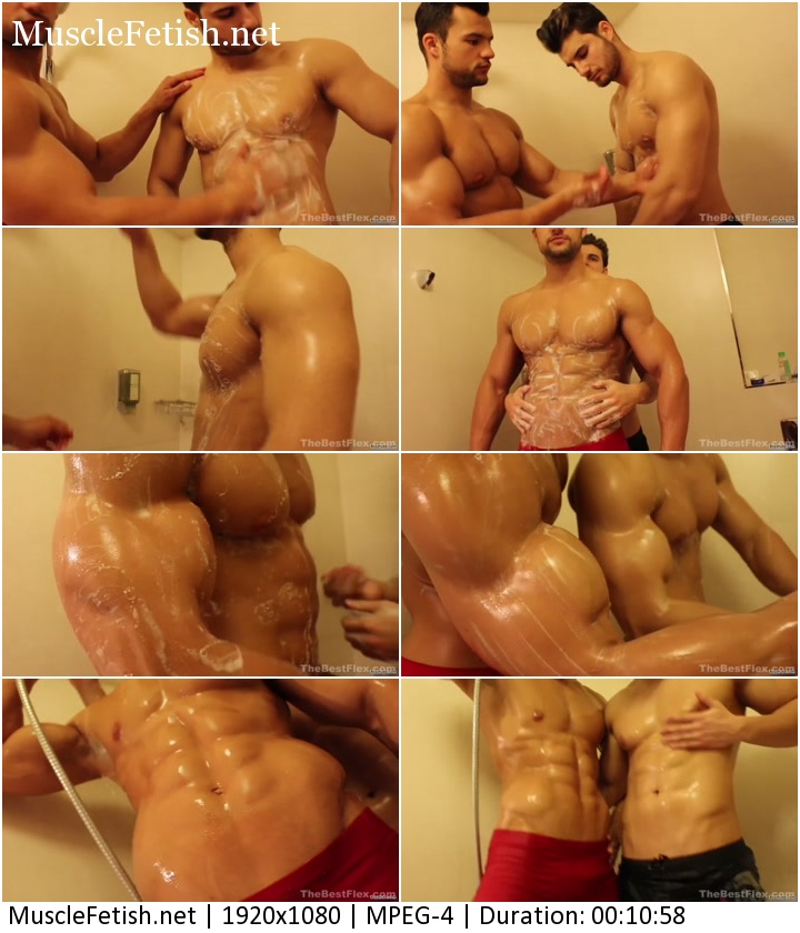 Sexy Muscled Brothers Taking a Shower
