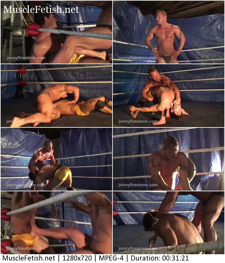 Sexy Muscular Wrestlers - Aryx Quinn vs Kip Sorrell