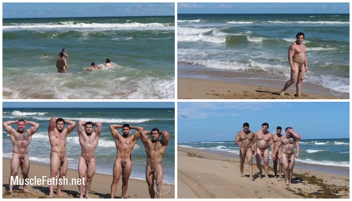 Sexy muscle men on on the nude beach 2