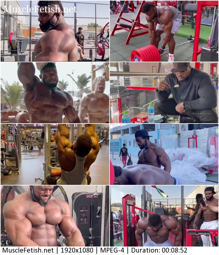 Short clip featuring a bodybuilder Andrew Jacked - motivation for pumping muscles