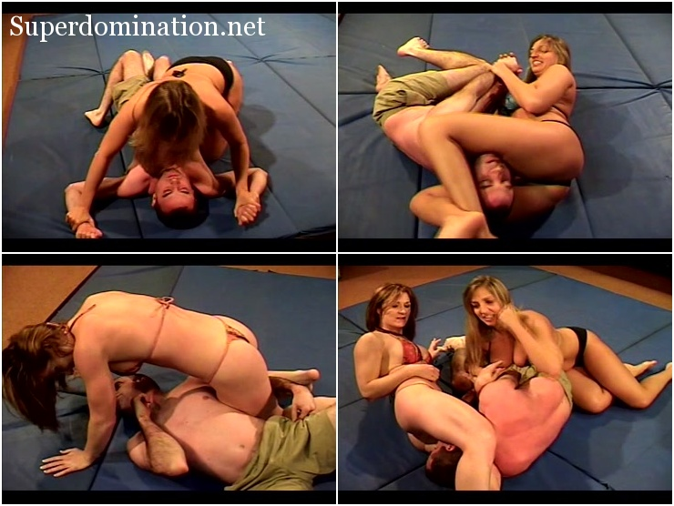 Smother Filled Mixed Wrestling - Tyler Dare & Chrissy Smothers Double Team Alex
