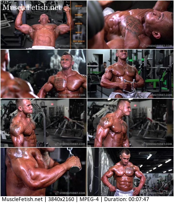 Strengthnet video - Bodybuilder Logan Clark Photo Shoot