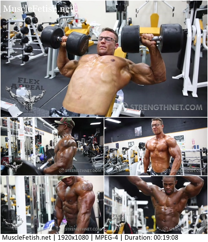 Strengthnet video - IFBB Pro Cane Bishop and NPC Classic Physique Athlete Elijah Lorono - Muscle Photo Shoot