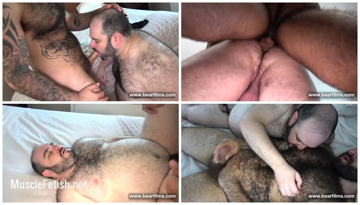 Super hairy, tattooed Atlas Grant and Ivan Romanov Bareback