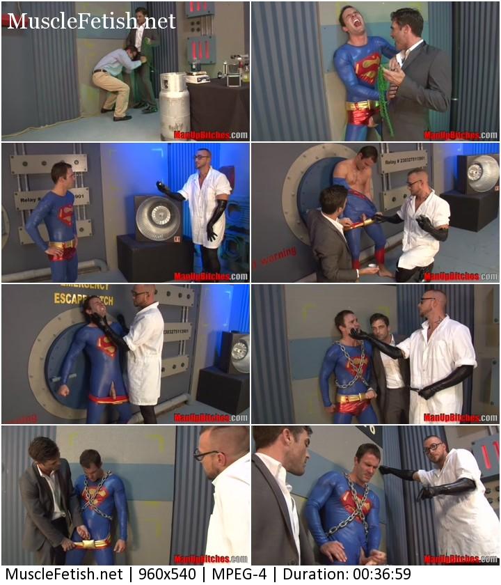 Superman Clark Kent vs Evil Doctor - gay cosplay