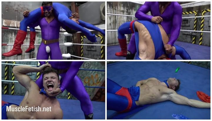 Superman Cosplayer Steel Man vs Power Bulge