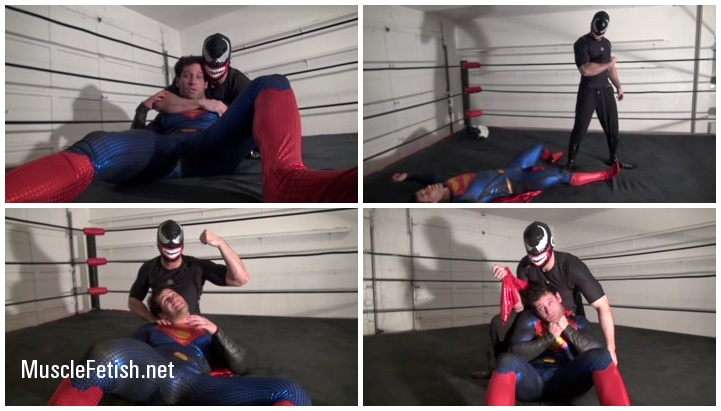 Superman get drained and dominated in the ring