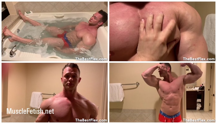 TheBestFlex - Daniel Carter - Bathroom Muscle Worship (HD)