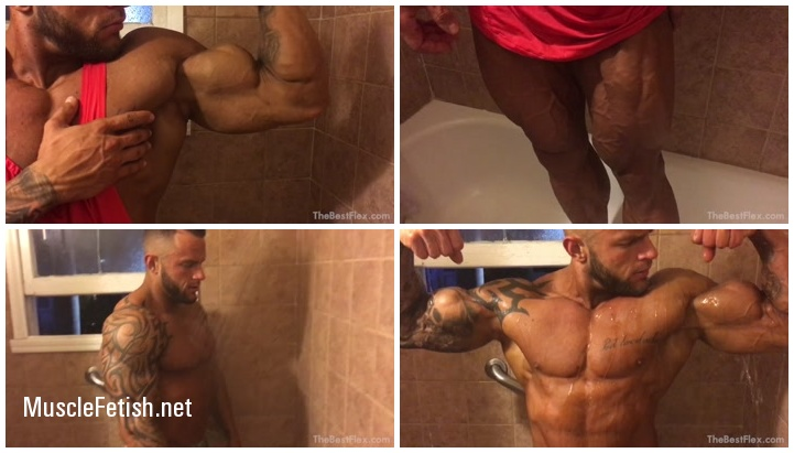 TheBestFlex - Muscle model Samp in the shower
