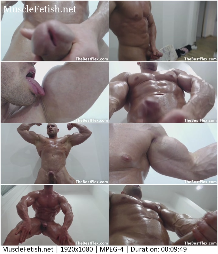 TheBestFlex Video - Bodybuilder Roland - Oiled Up Stud Towers Above You