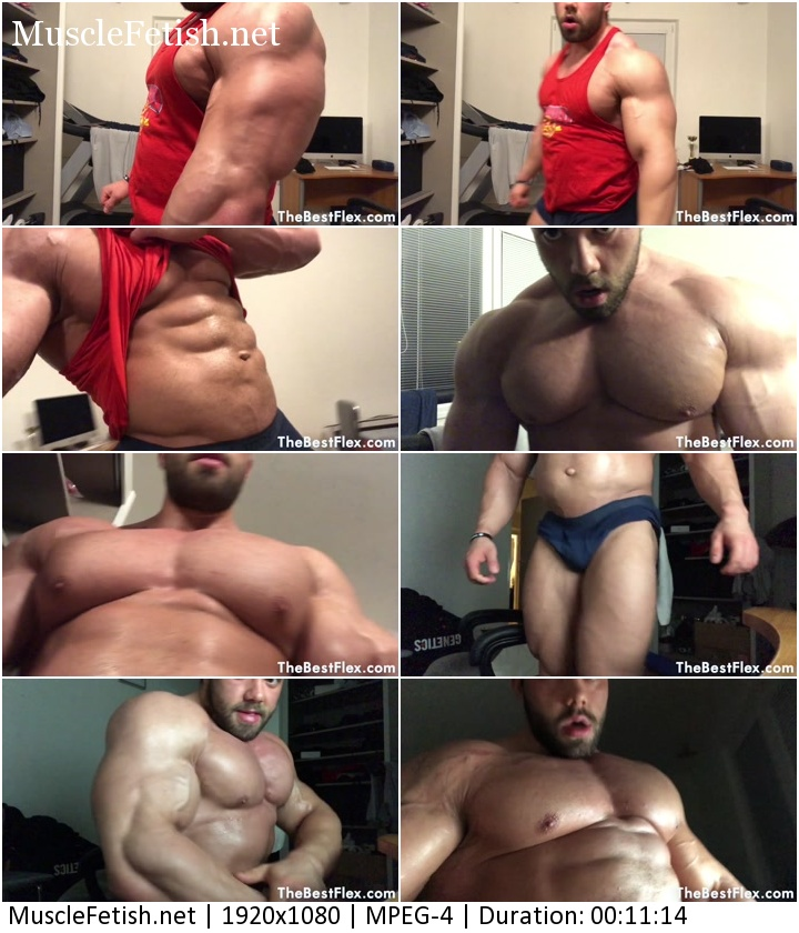 TheBestFlex video - Bodybuilder Zeecko Love Muscle Truly Huge Muscle God