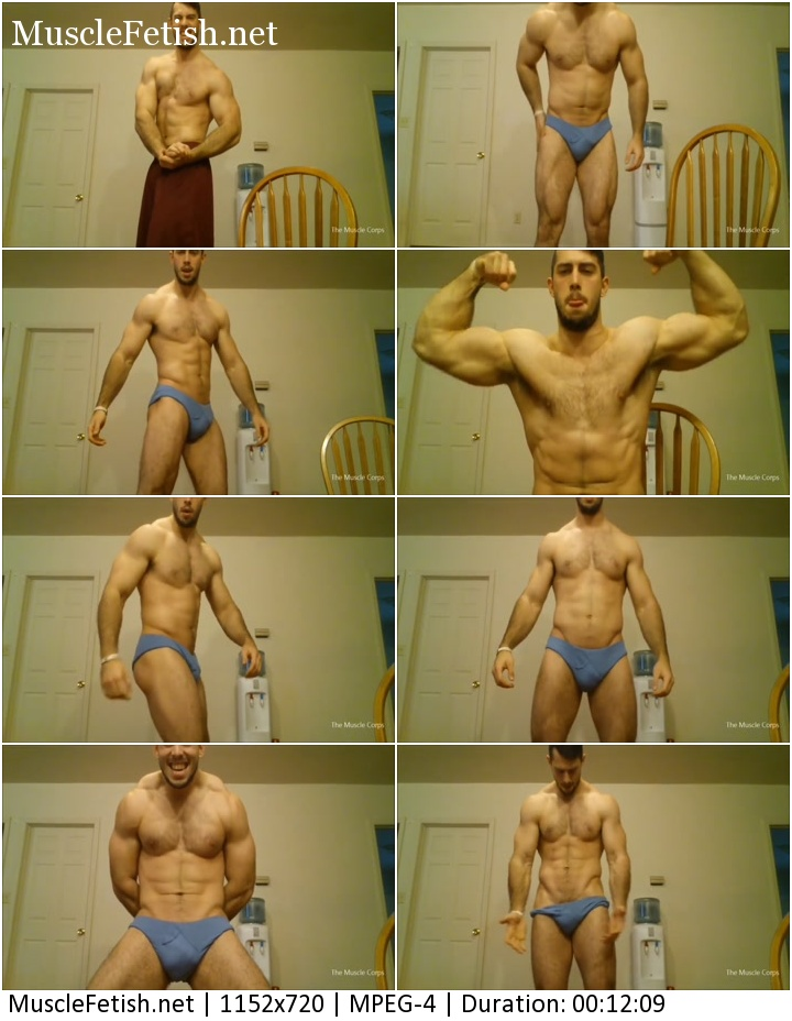 TheMuscleCorp clip - male muscle hunk worship