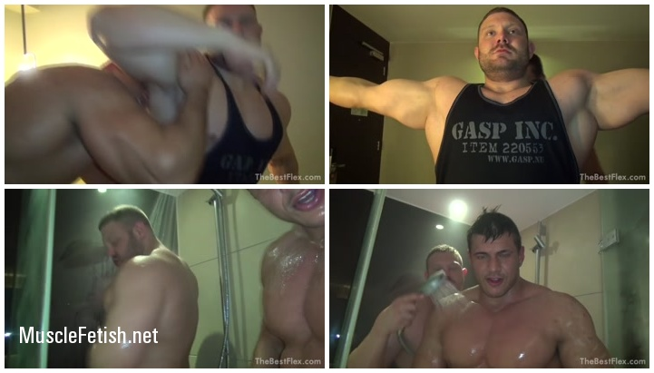 Thebestflex- Jay and Josh muscle worship and Shower