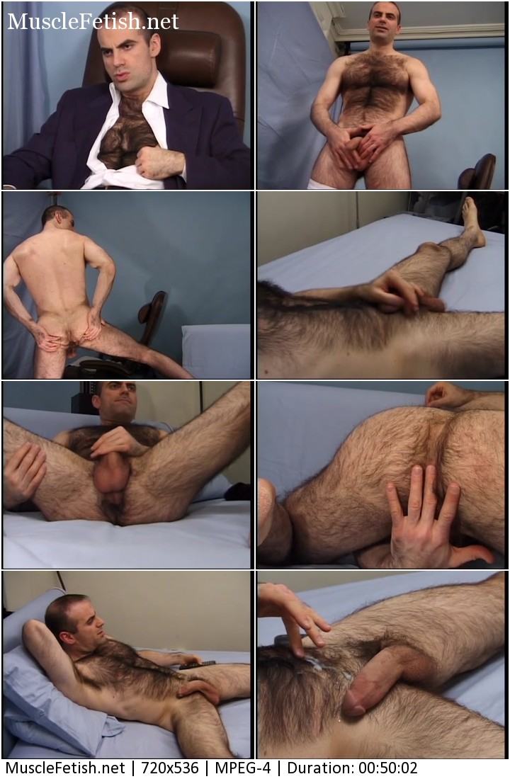 This is Brad's second solo video for HJV. He has an amazingly hairy chest!
