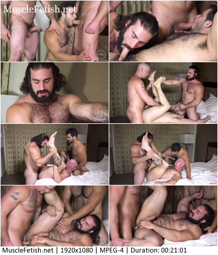 Three muscle gay bears - Marcello, Junior and Jaxton