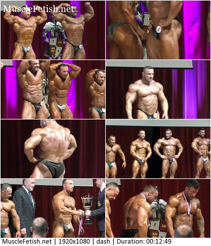 Tomas Kaspar at bodybuilding show in France