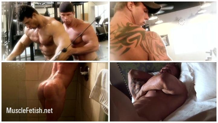 Two muscle guys Mark Dalton and Zeb Atlas