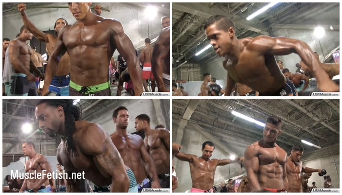 USAMuscle - NPC Nationals Men's Physique Pump Room Photo Shoot Part 1