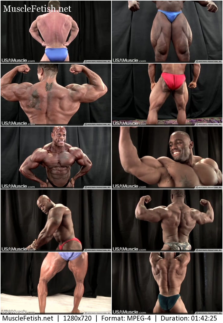 USA muscle - big black muscle - bodybuilding contest
