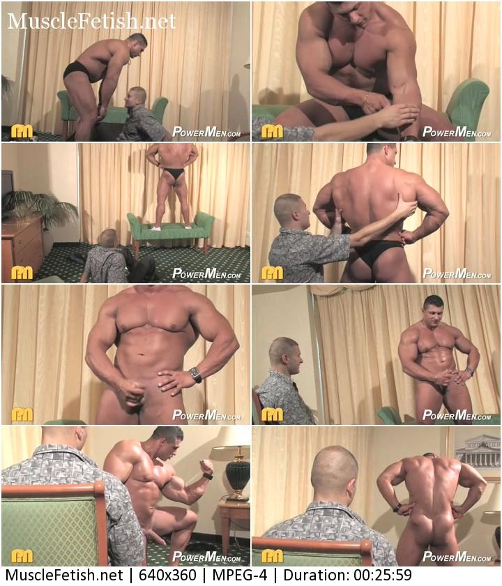 Worshiping naked bodybuilder Yummi Cosmin
