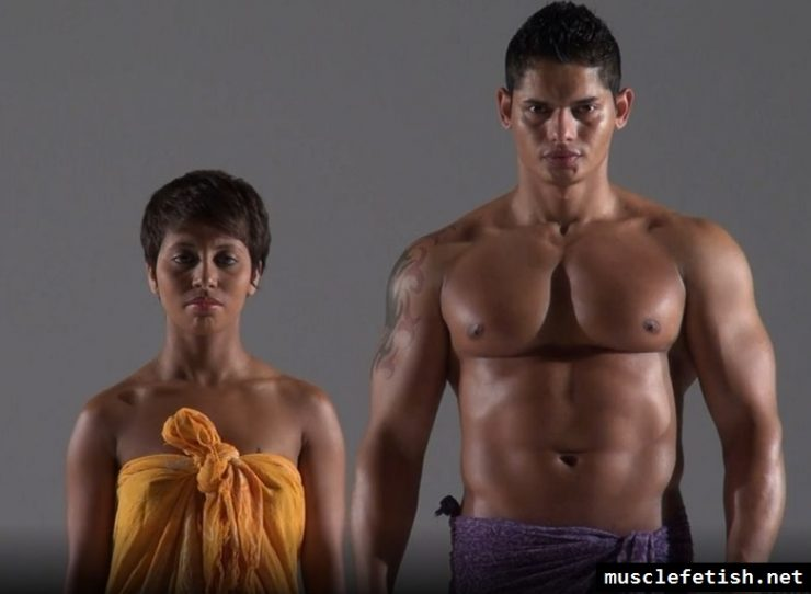 Yanka L and muscular handsome man - Kung Fu Massage