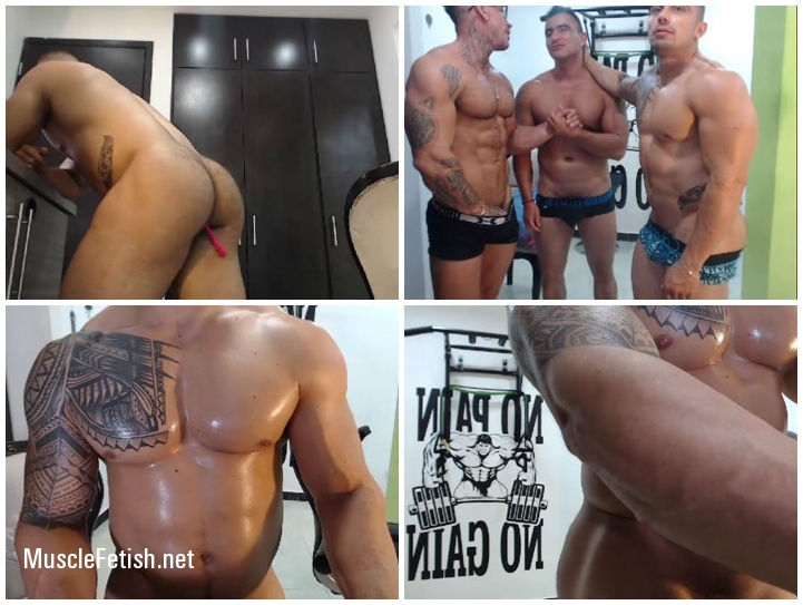 Young bodybuilders from Colombia - sexy webcam show