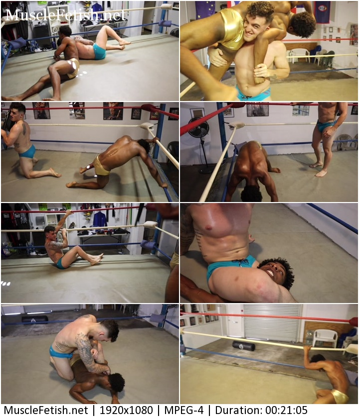 interracial male wrestling - muscle fetish